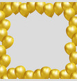 festive frame with gold balloons vector image