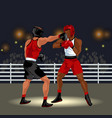 fighters battle in ring vector image