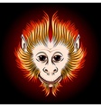 fire monkey face vector image vector image