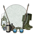 Fishing Frame vector image vector image