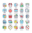 flat icons on online shopping theme vector image vector image