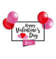 for st valentines day on white background vector image vector image