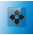 Four arrows flat icon vector image