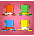 Four colored hats vector | Price: 3 Credits (USD $3)