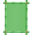 frame made of bamboo vector image vector image