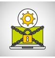 gear security internet technology vector image vector image