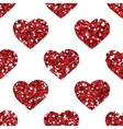 Glitter heart seamless pattern vector image vector image