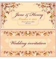 Grapevine Wedding Invitation Vintage Elegant vector image