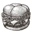 hamburger logo design template fast food vector image vector image