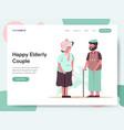 happy elderly couple concept vector image vector image