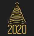 happy new 2020 year festive design with gold vector image vector image
