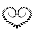 Heart wreath tattoo icon Black stylized ornament vector image vector image