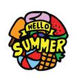 hello summer 100 best for print design like vector image vector image