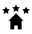 house icon with star sign vector image vector image