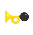 icon horn car horn simple flat style vector image vector image