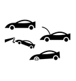 icon of cars vector image vector image