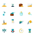 Investment Flat Icon Set vector image vector image