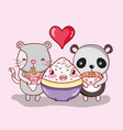japan food and animals kawaii vector image