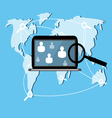 Laptop web search vector image vector image