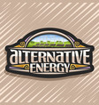 logo for alternative energy vector image vector image