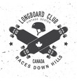 longboard club badge extreme vector image
