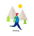 man climbing vector image vector image