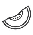 melon line icon fruit and diet graphics vector image vector image