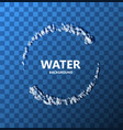 modern creative water background vector image vector image