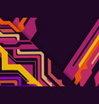 multicolored abstract geometric on purple vector image
