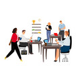 office life international business team vector image vector image