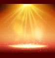 one spotlight on stage with smoke and light vector image vector image