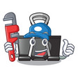 plumber binder clip for charcter on documents vector image