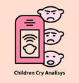 portable baby cry analyzing vector image vector image