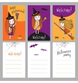 Print templates set for Halloween vector image