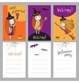 Print templates set for Halloween vector image vector image