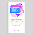 programming innovation scripts and laptop vector image vector image