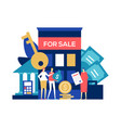 real estate deal - colorful flat design style vector image