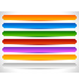 rectangular buttons in several colors button tag vector image vector image