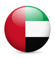 Round glossy icon of uae vector image vector image