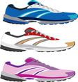 running shoe vector image