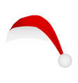 santa hat cap isolated on white background mask vector image vector image
