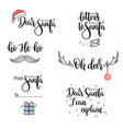 santa related phrases lettering set vector image