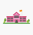 school building in flat style vector image