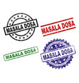 scratched textured masala dosa seal stamps vector image
