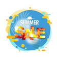summer sale banner speech bubble isolated white vector image vector image