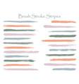 textured ink brush stroke stripes set vector image