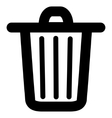 Trash Can Stroke Icon vector image