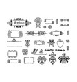 tribal aztec symbols for logo vector image
