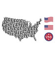 united states map stylization of pound sterling vector image