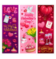 valentines day hearts and romantic holiday gifts vector image vector image
